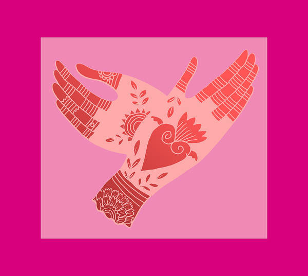 Hand Art Print featuring the digital art Creative Flame by Elaine Jackson