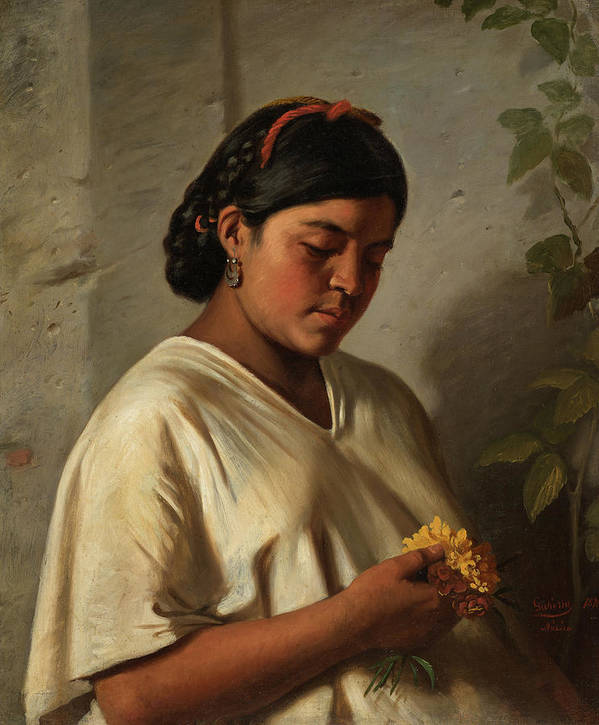 Indian Woman With Marigold by Mountain Dreams