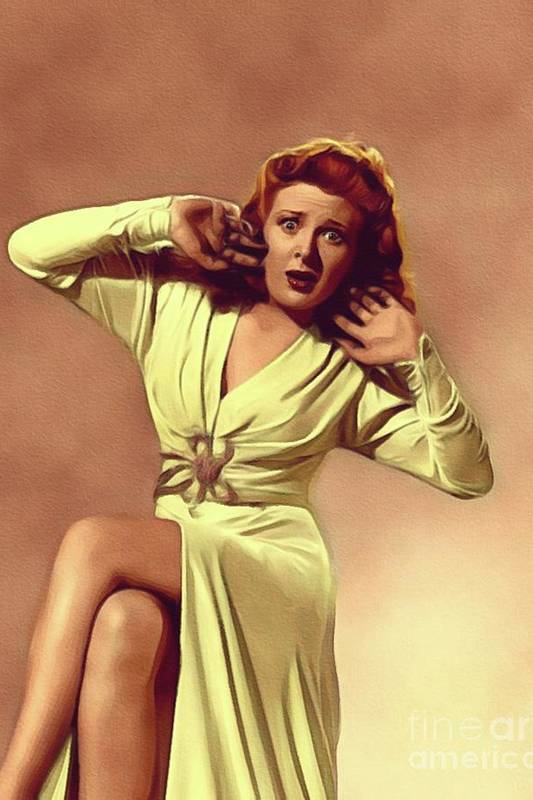 Evelyn Ankers, Vintage Actress by Esoterica Art Agency