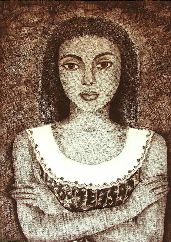Figurative Art Print featuring the drawing Untitled by Padmakar Kappagantula