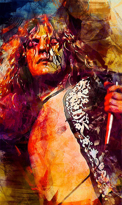 Led Zeppelin. Robert Plant. by Lilia Kosvintseva