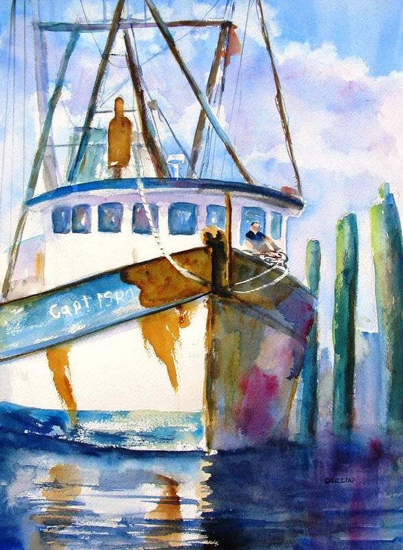 Shrimp Boat Isra by Carlin Blahnik CarlinArtWatercolor