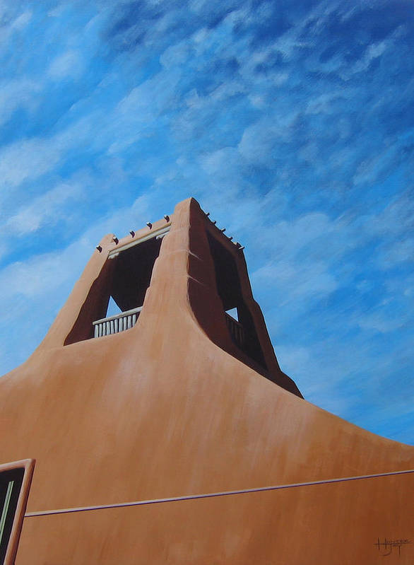 Taos Art Print featuring the painting Taos Memory by Hunter Jay
