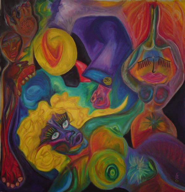 Art Print featuring the pastel No Titel by Sitara Bruns