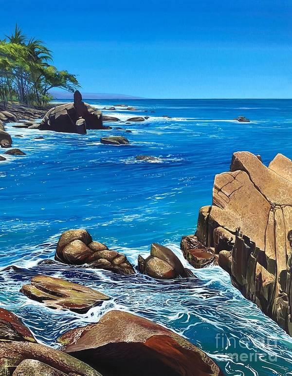 Puerto Vallarta Art Print featuring the painting Swept Away by Hunter Jay