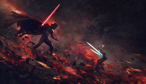 Vader vs Ahsoka by Exar Kun