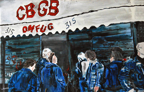 New York City Paintings Art Print featuring the painting Cbgb's by Wayne Pearce