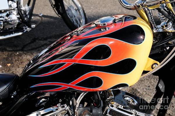 Gas Tank Art Print featuring the photograph Flames by Bruce Borthwick