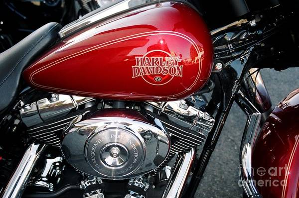 Harley Art Print featuring the photograph Flaming by Bruce Borthwick
