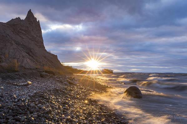 Chimney Bluffs Sunburst by Dustin Schwartzmeyer