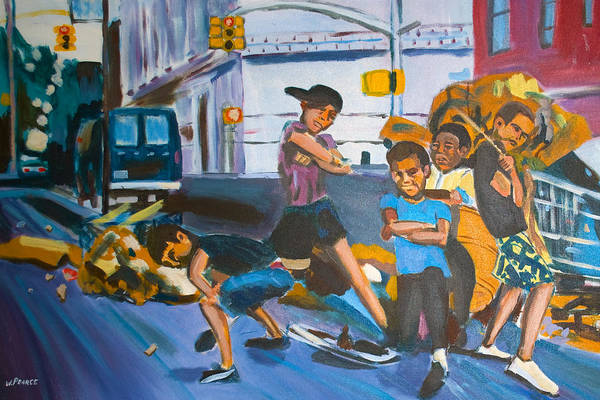New York City Paintings Art Print featuring the painting Playground by Wayne Pearce
