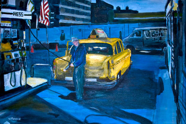 New York City Paintings Art Print featuring the painting Taxi by Wayne Pearce