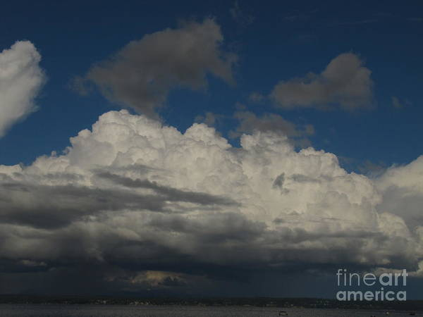 Clouds Art Print featuring the photograph Wild Blue Yonder by Bruce Borthwick