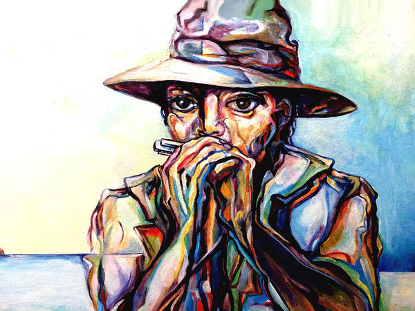 Lloyd Deberry Art Print featuring the painting Blues Traveler by Lloyd DeBerry