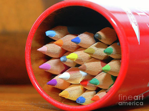 Experiment Print featuring the photograph Crayons by Graham Taylor