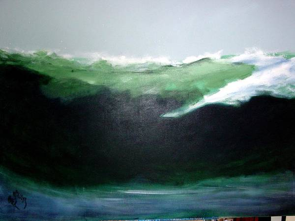 Surf Art Print featuring the painting Ghost Surfer by Paul Miller