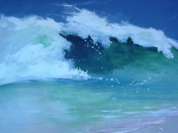 Surf Art Print featuring the painting Hapuna Beach Shore Stack by Paul Miller