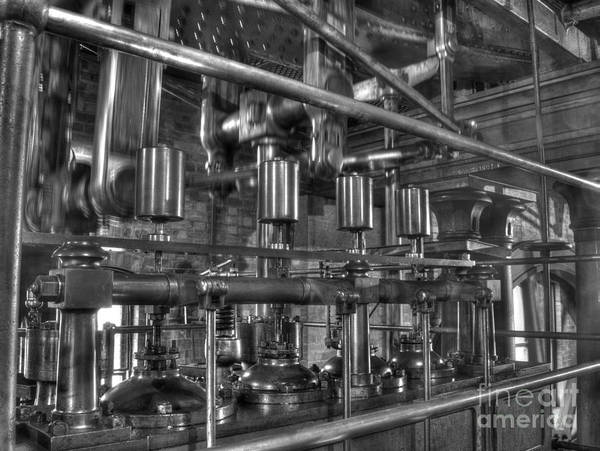 Steam Art Print featuring the photograph Steam Valves by Steev Stamford
