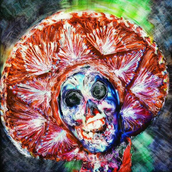 Day Of The Dead Art Print featuring the painting Fiesta Sombrero by Paul Tokarski