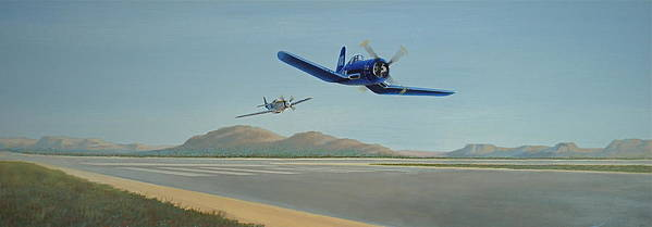 Air Craft Art Print featuring the painting Flying The Air Show Circuit by Keith Kochenour