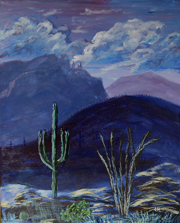 Finger Rock Evening, Tucson by Chance Kafka