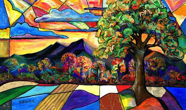 Everett Spruill Art Print featuring the painting Autumn Sunrise by Everett Spruill