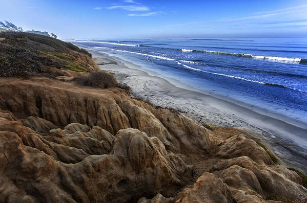Natures Sandstone Sculptures at Carlsbad Beach in California by Blayden Thompson