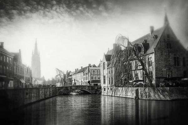 Vintage Bruges Belgium Black and White  by Carol Japp