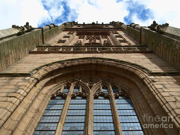 Cathedral Art Print featuring the photograph Looking up to God by Steev Stamford
