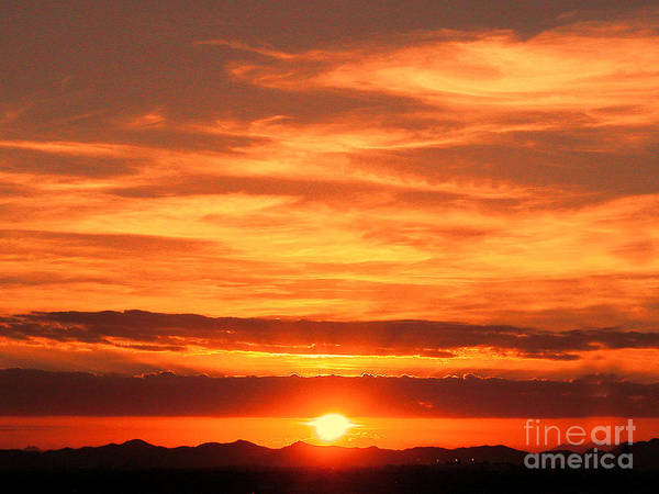 Clouds Art Print featuring the photograph Sunrise Over Jeddah by Graham Taylor