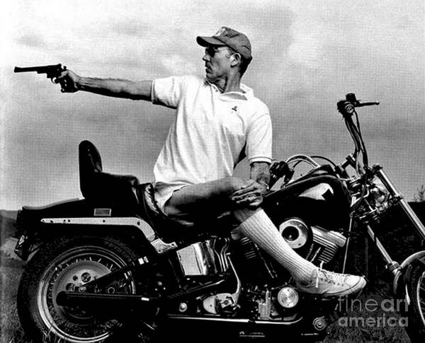 Hunter s Thompson Gonzo on Motorcycle by Premium Artman