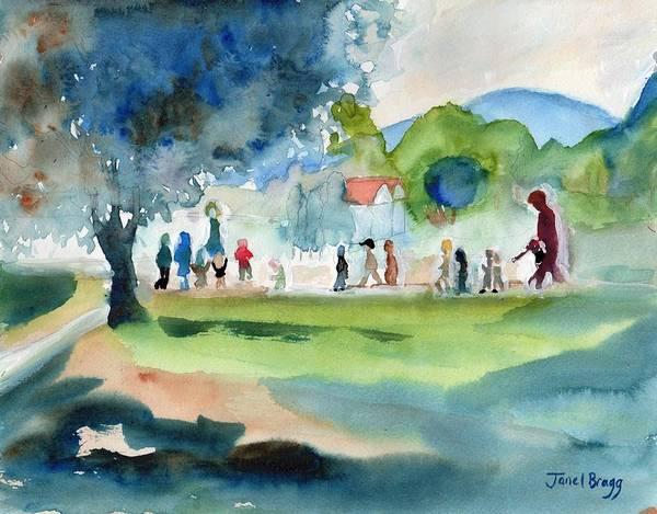 Montessori School Crossing the Street by Janel Bragg