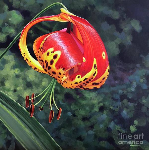Tigerlily Art Print featuring the painting What's Up, Tigerlily? by Hunter Jay