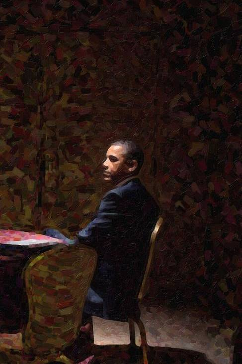 Abstract Portrait of President Barack Obama 13 by Celestial Images