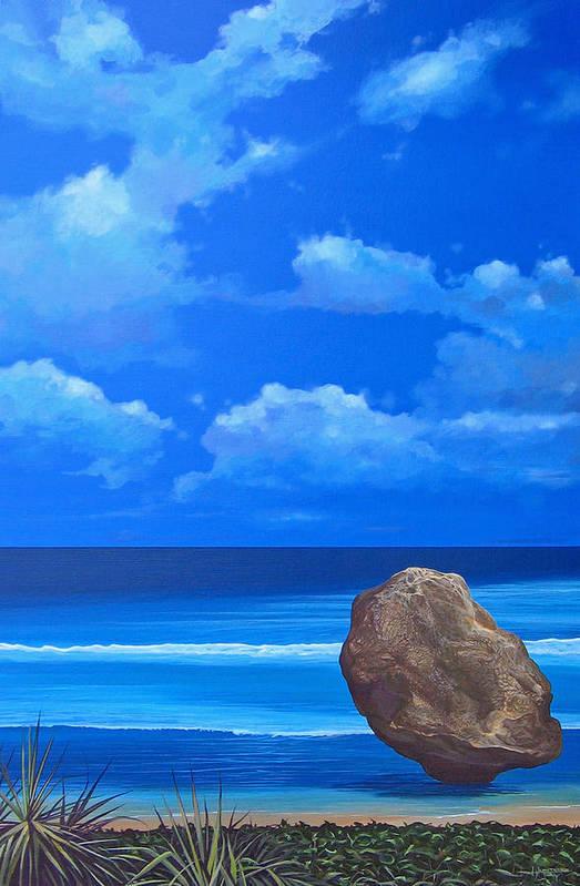 Barbados Art Print featuring the painting Bathsheba by Hunter Jay