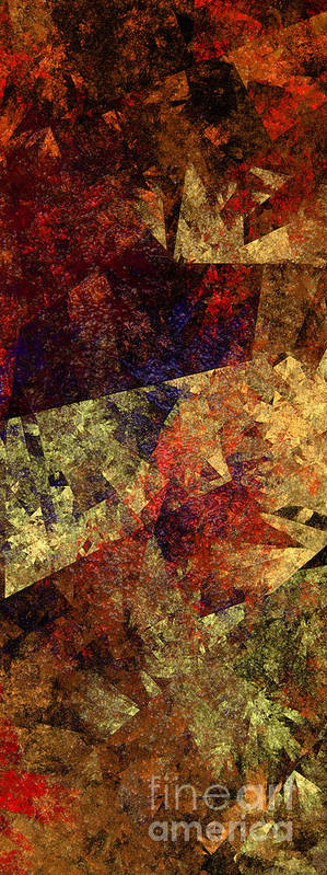Abstract Art Print featuring the digital art Autumn Road by Andee Design