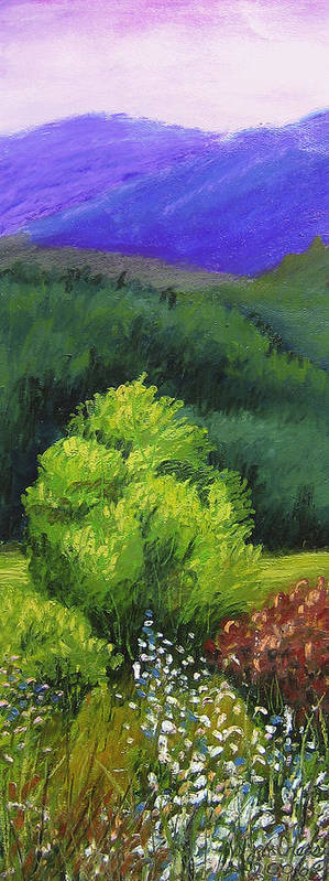 Mountians Art Print featuring the painting Blue Ridge Sentinel by Wynn Creasy