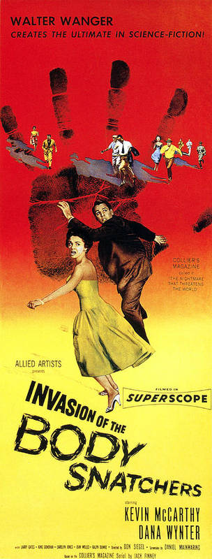 1950s Poster Art Art Print featuring the photograph Invasion Of The Body Snatchers, Center by Everett