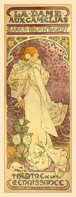Antique Art Print featuring the digital art La Dame by Gary Grayson