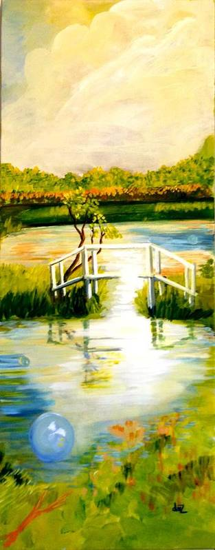 Spring Art Print featuring the painting Sweetwater Spring Texas by Daisy Undercuffler