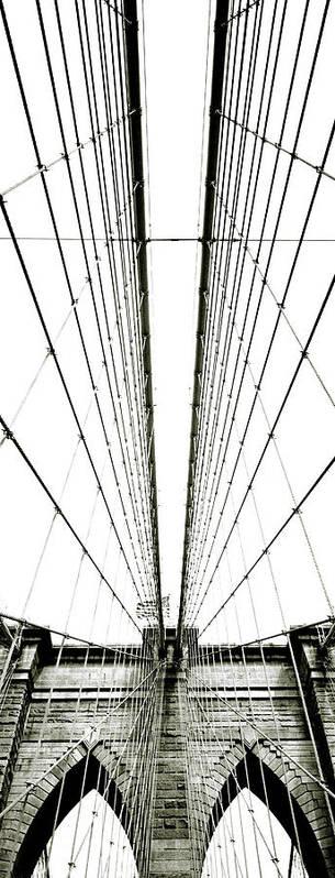 Arch Art Print featuring the photograph Brooklyn Bridge by Giuseppe Ceschi