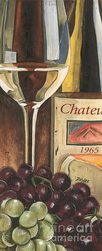 Grapes Art Print featuring the painting Chateux 1965 by Debbie DeWitt