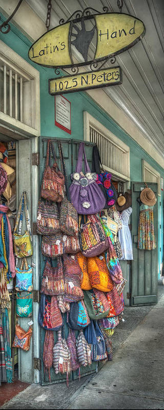 Market Art Print featuring the photograph Latin's Hand by Brenda Bryant