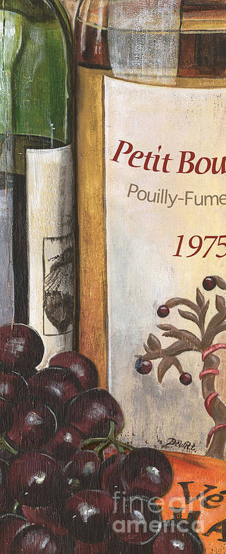 Red Grapes Art Print featuring the painting Pouilly Fume 1975 by Debbie DeWitt