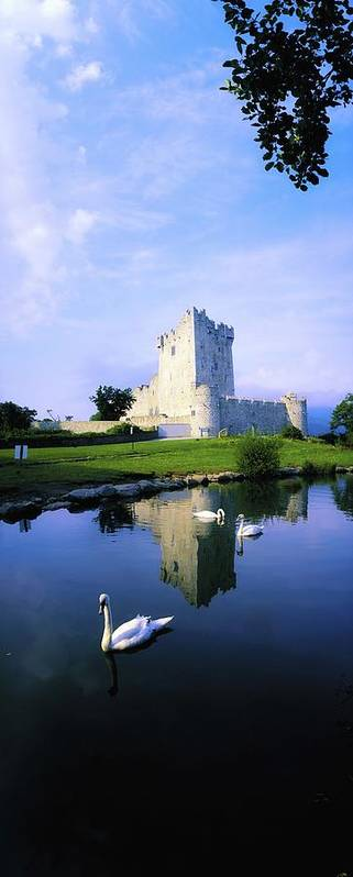 Architecture Print featuring the photograph Ross Castle, Lough Leane, Killarney by The Irish Image Collection