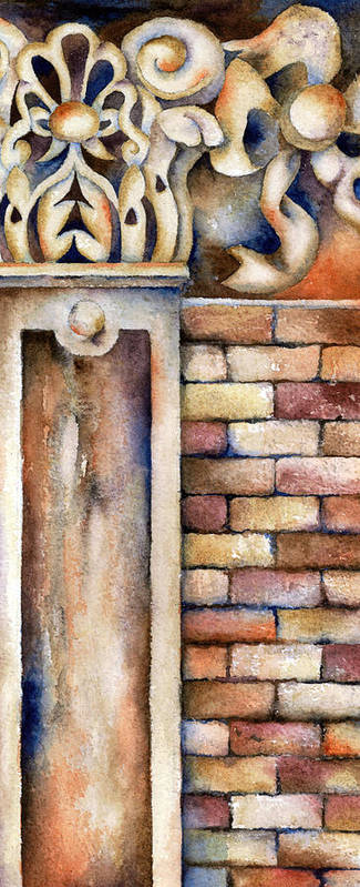 Bricks Art Print featuring the painting Faithful by Winona Steunenberg