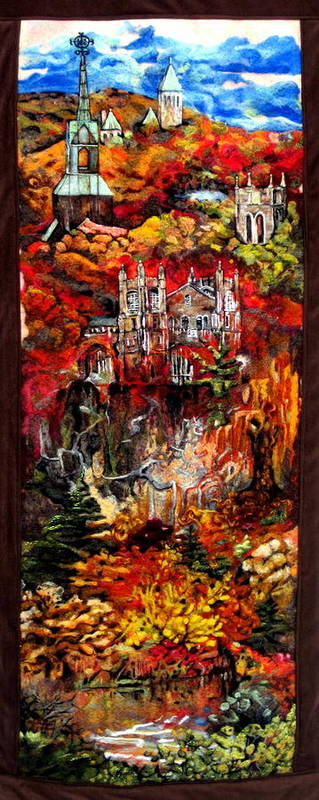 Felt Art Print featuring the tapestry - textile Fall by Kimberly Simon