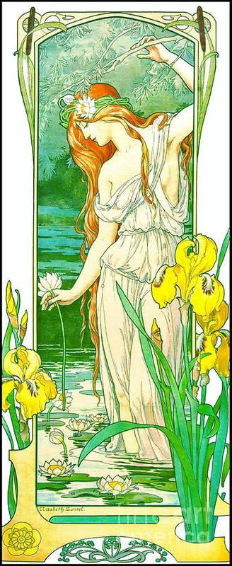 Flora 1905 Art Print featuring the photograph Flora 1905 by Padre Art