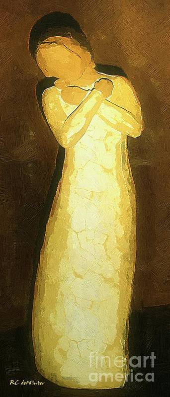 Figure Art Print featuring the painting Almost An Angel by RC DeWinter