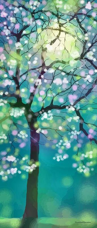 April Art Print featuring the digital art April Night by Sharon Marcella Marston